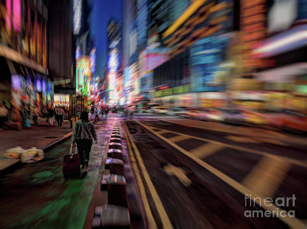 Photograph - Alone In New York City 2 by Jeff Breiman
