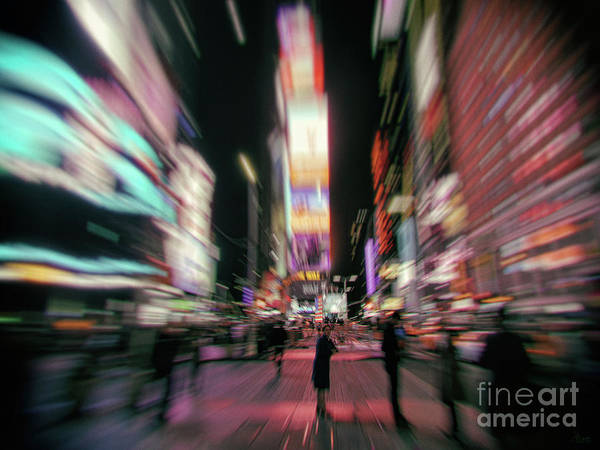 Photograph - Alone In New York City 3 by Jeff Breiman