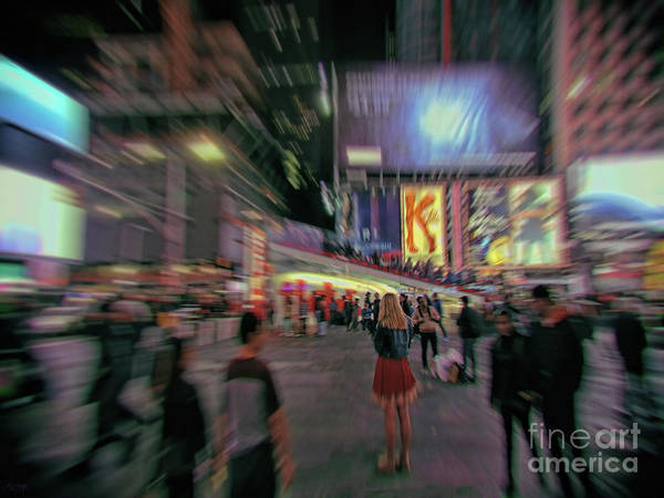 Photograph - Alone In New York City 5 by Jeff Breiman
