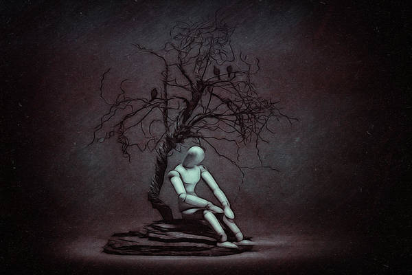 Sorrow Photograph - Alone In The Dark by Tom Mc Nemar