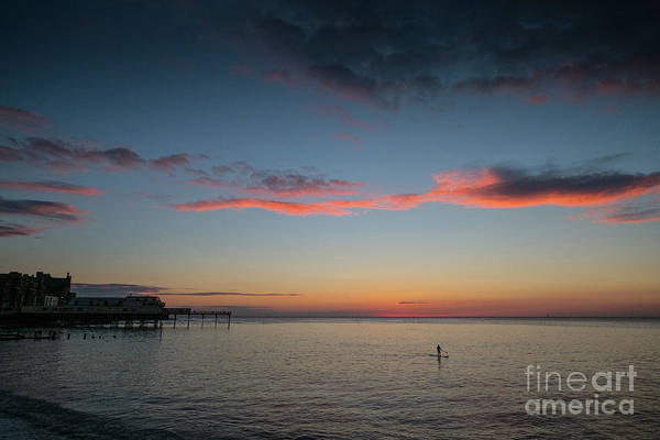 Photograph - Alone On The Flat Calm Sea by Keith Morris