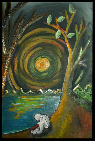 Wall Art - Painting - Alone With The Sun by Alycia Ryan