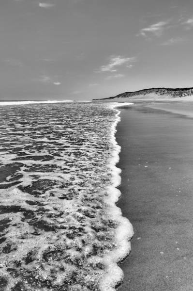 Photograph - Along The Beach Bw by Bill Wakeley