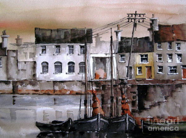 Painting - Along The Cladagh Galway by Val Byrne