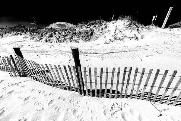 Down The Shore Photograph - Along The Long Beach Island Dune Fence by John Rizzuto
