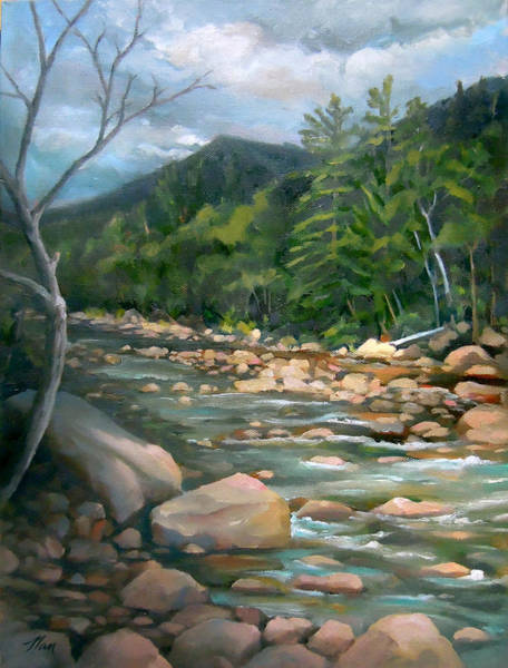 Painting - Along The Pemi by Nancy Griswold