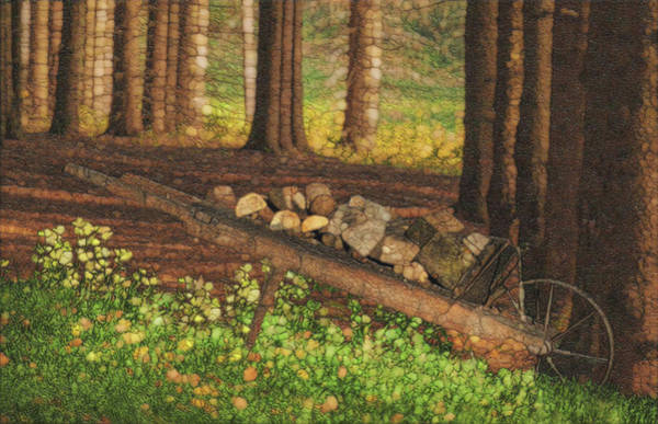 Wall Art - Painting - Along The Pines by Jack Zulli