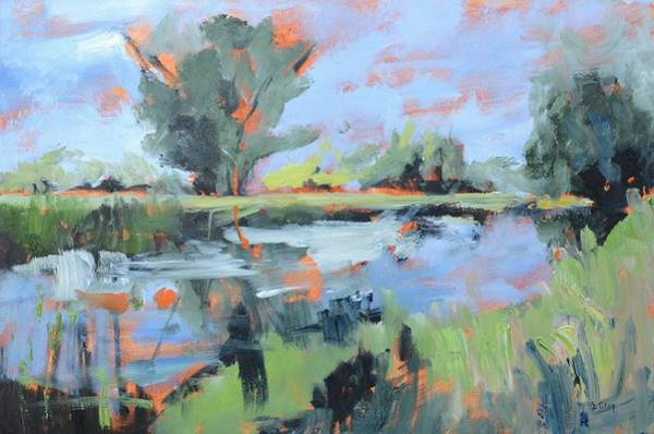 Painting - Along The River by Donna Tuten