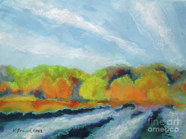 Wall Art - Painting - Along The River Fall Colors by Kathy Braud