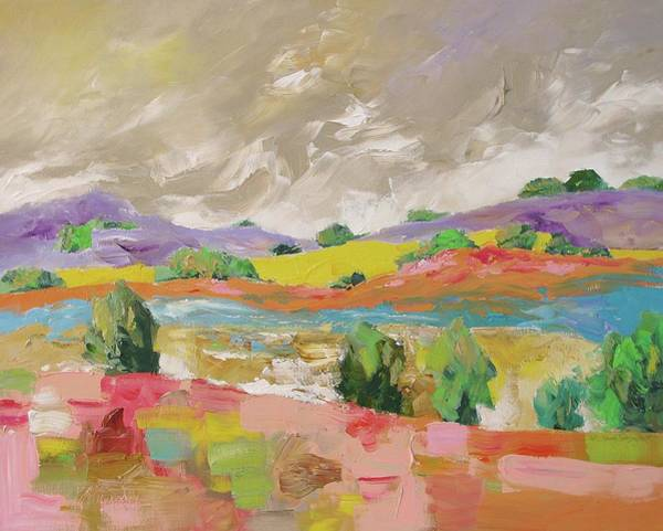 Fauve Painting - Along The River by Linda Monfort