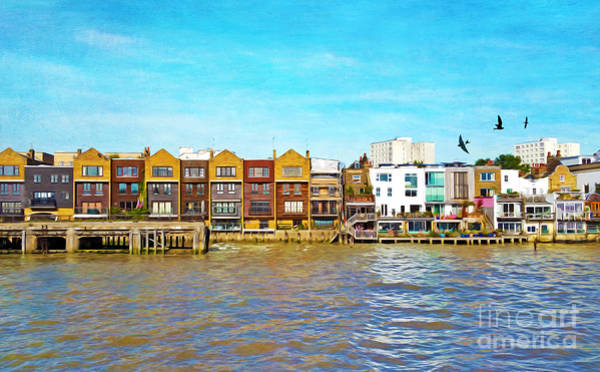 Condos Photograph - Along The River Thames by Laura D Young