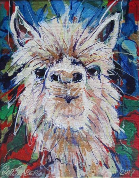 Alpaca Painting - Alpaca Crazed by Jeff Seaberg