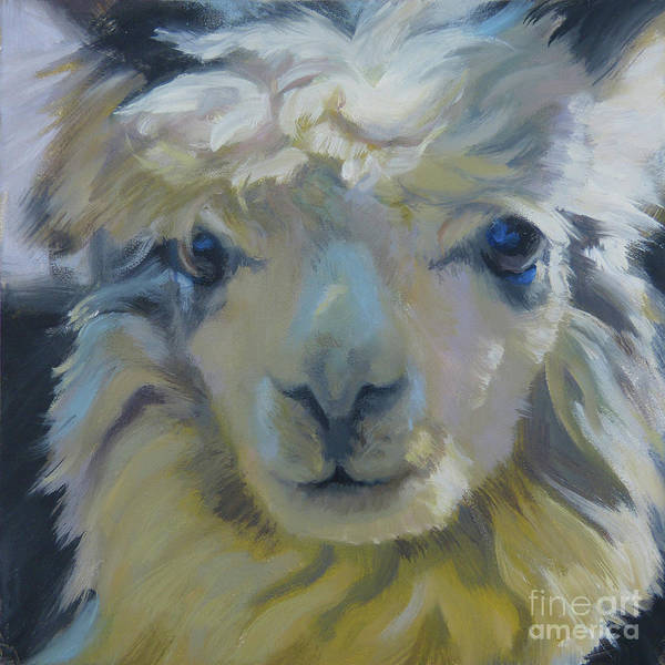 Alpaca Painting - Alpaca Eyes by Anette Power