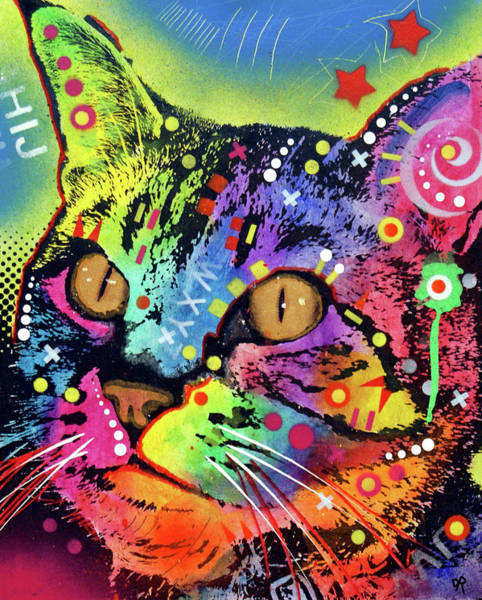 Painting - Alpha Cat by Dean Russo Art