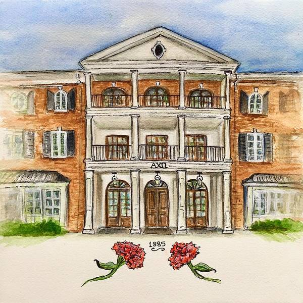 Wall Art - Painting - Alpha Chi Omega by Starr Weems