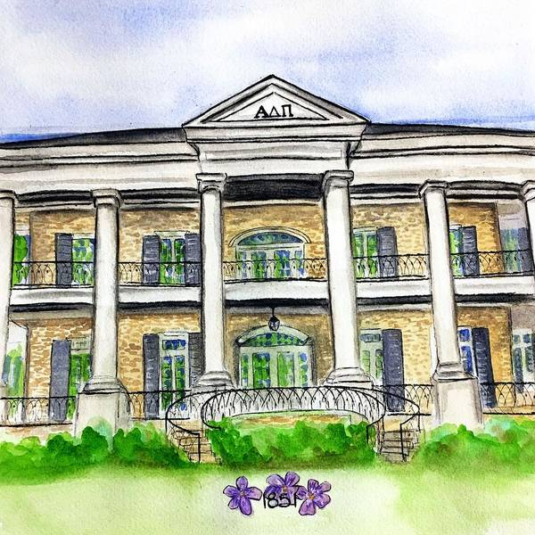 Wall Art - Painting - Alpha Delta Pi by Starr Weems