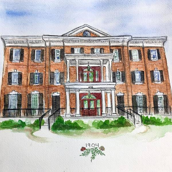 Wall Art - Painting - Alpha Gamma Delta by Starr Weems