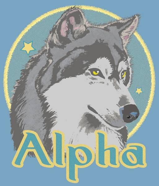 Alpha Wolf Wall Art - Mixed Media - Alpha by J L Meadows