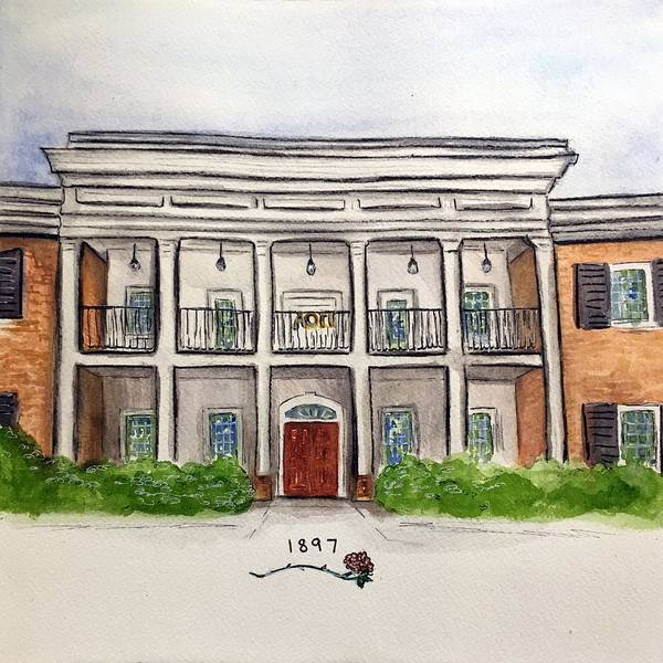 Wall Art - Painting - Alpha Omicron Pi by Starr Weems