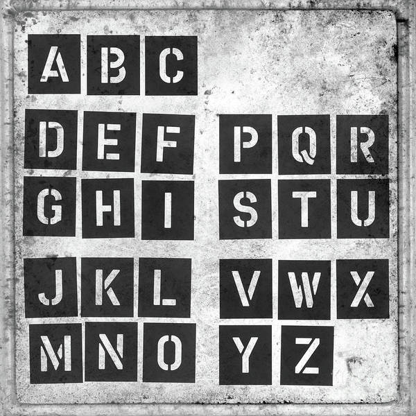 Photograph - Alphabet by Clayton Bastiani