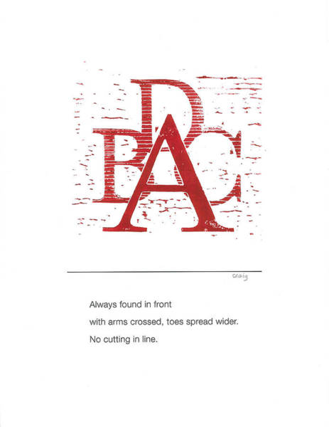 Painting - Alphabet Haiku Letter A by Carrie MaKenna