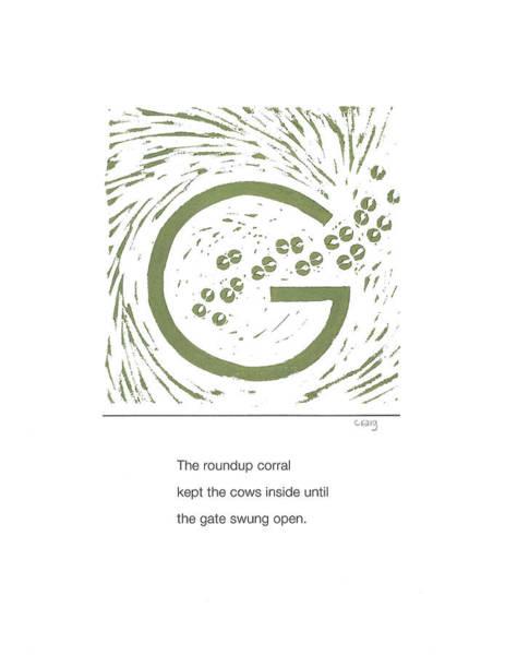 Painting - Alphabet Haiku Letter G by Carrie MaKenna