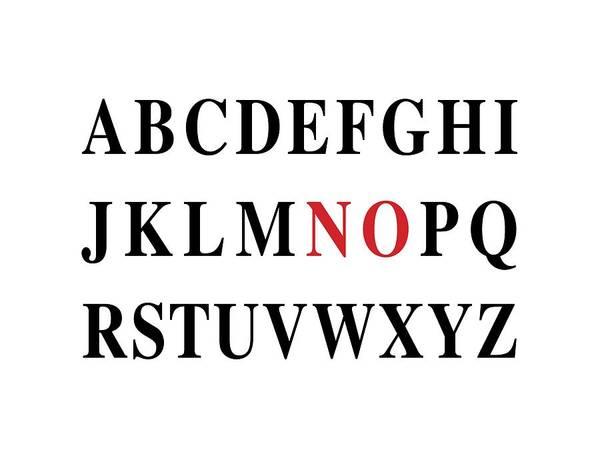Digital Art - Alphabet No by Nancy Ingersoll