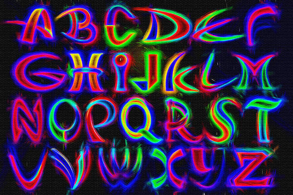 A To Z Digital Art - Alphabetic Graffiti by Steve Ohlsen