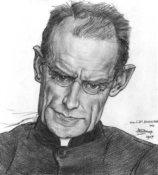 20th Century Man Drawing - Alphonse Marie Auguste Joseph Ariens by Jan Toorop