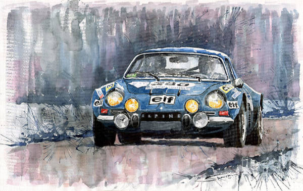 Auto Wall Art - Painting - Alpine A 110 by Yuriy Shevchuk