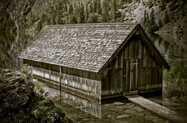 Wall Art - Photograph - Alpine Boat Hut by Frank Tschakert