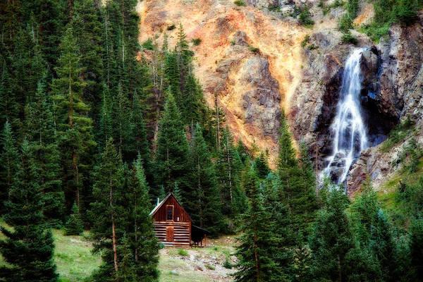 Alpine Cabin Art Print