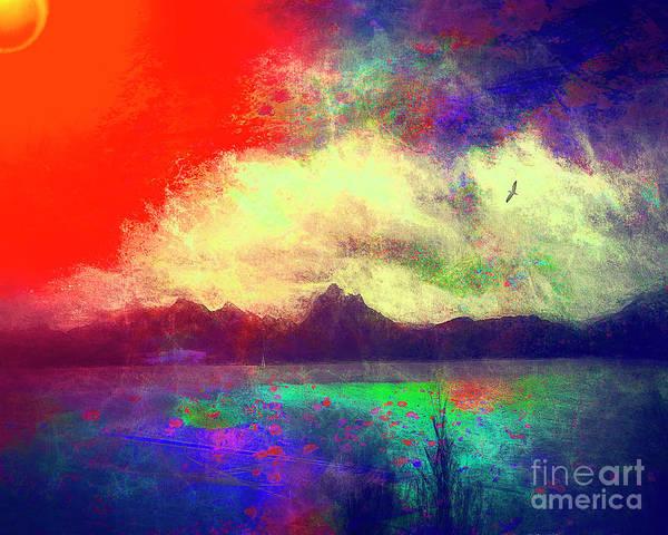 Digital Art - Alpine Dawn by Edmund Nagele