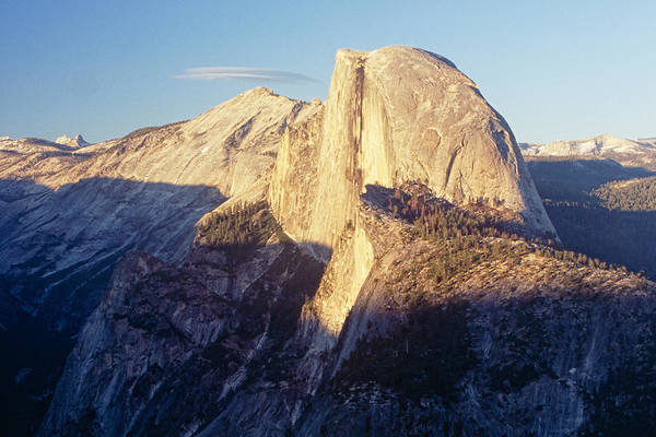 George Canyon Photograph - Alpine Glow On Half Dome by George Oze