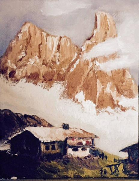 Painting - Alpine Home  by Donald Paczynski