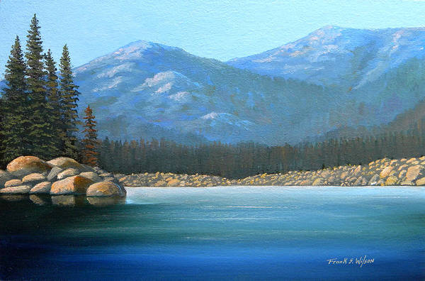 Painting - Alpine Lake by Frank Wilson