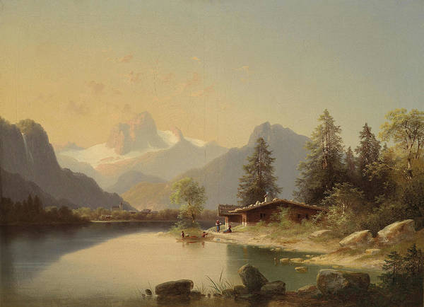 Rauch Wall Art - Painting - Alpine Landscape by MotionAge Designs