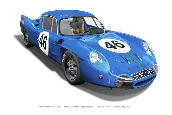 Wall Art - Drawing - Alpine Renault A210 by Alain Jamar