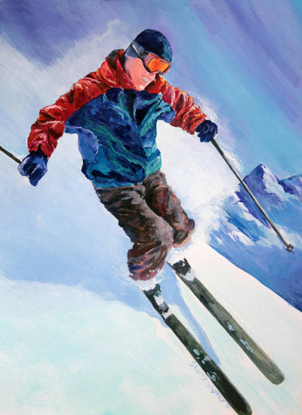 Painting - Alpine Skier by Sherry Shipley