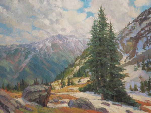 Oil Field Painting - Alpine Spring  by Steve Henderson