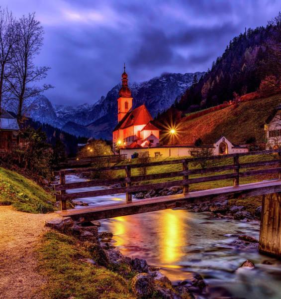 Village Creek Photograph - Alpine Sunset Beauty by Pixabay