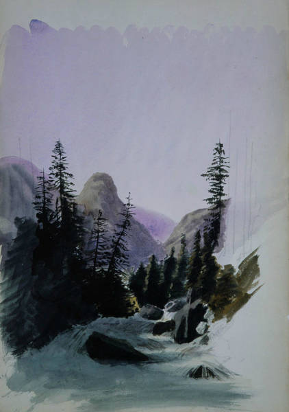 Drawing - Alpine View, Murren by John Singer Sargent
