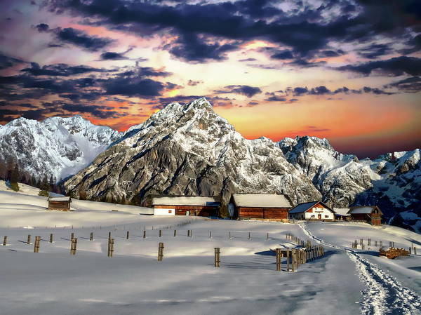 Photograph - Alpine Winter Scene by Anthony Dezenzio