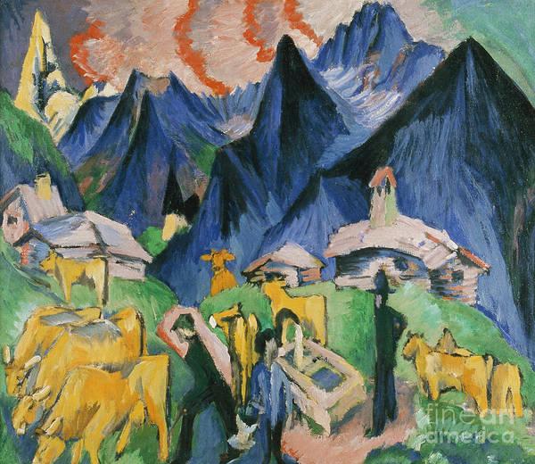 Swiss Alps Wall Art - Painting - Alpleben by Ernst Ludwig Kirchner