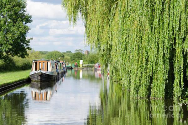 Stamford Bridge Wall Art - Photograph - Alrewas Canal Scene by Steev Stamford