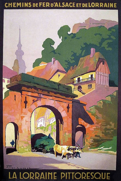 Alsace Wall Art - Painting - Alsace, Lorraine, France, Vintage Travel Poster by Long Shot