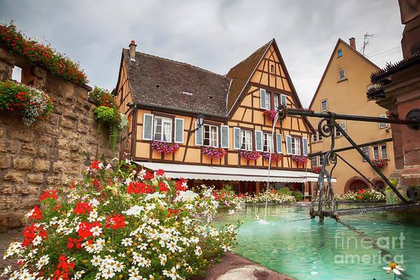 Photograph - Alsace Village Eguisheim  by Ariadna De Raadt