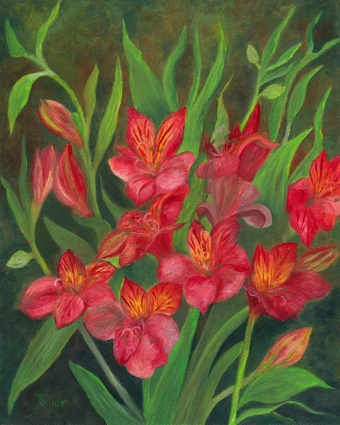 Painting - Alstroemeria by FT McKinstry