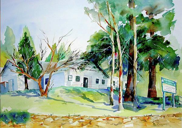 Painting - Alta/dutch Flat School by Joan Chlarson