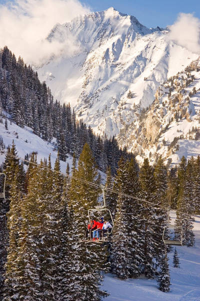 Wall Art - Photograph - Alta Ski Resort Wasatch Mts Utah by Douglas Pulsipher